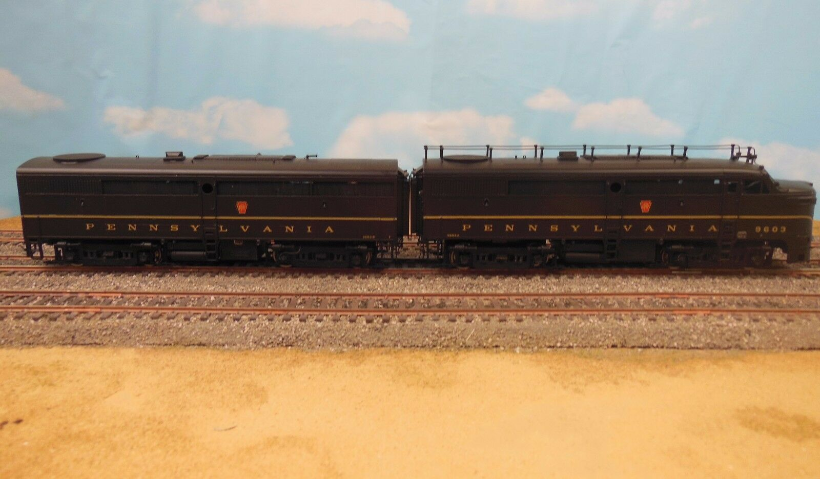 HO SCALE BRASS KEY IMPORTS ALCO FA-1 FB-1 PRR VERSION PAINTED