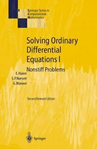 Solving Ordinary Differential Equations 1 : Nonstiff Problems, Hardcover by H...