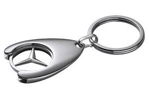 original-Mercedes-Benz-Schluesselanhaenger-mit-Einkaufschip-Stern-Logo-Mercedes