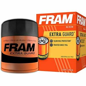 FRAM Extra Guard PH8A, 10K Mile Change Interval Spin-On Oil Filter, New Pack