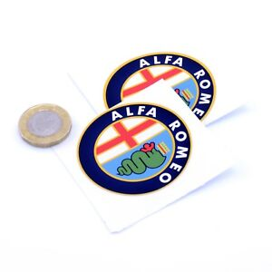 Alfa Romeo Cloverleaf STICKERS Badge Decal Vinyl Car 100mm x2 Race Racing Rally