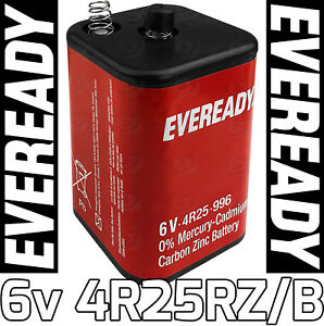 Image Is Loading Eveready 4R25RZ B 6v Lantern Battery PJ996 Zinc