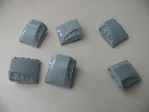 Lego-6-pieces-gris-clair-curve-7726-8381-7685-6-light-bluish-slope-curved
