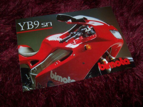 Bescheiden Prospectus / Brochure Bimota Yb9 Sri 1999 //