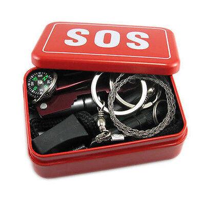 Self Help Outdoor Sport Camping Hiking Survival Emergency Gear Tools Box Kit Set