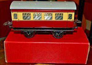 Bon CœUr Vintage Boxed Hornby Trains O Gauge 2nd Class Coach No. 51; Near Mint