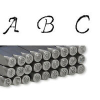 Little Alphabet Letter Steel Stamp Punch Tool For Metal, Jewelry Blanks, Clay+