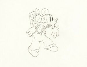 Mickey Mouse 1936 Production Animation Cel Drawing Disney Mickey's Elephant h