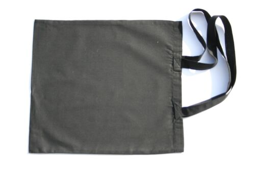 25 Black Eco Natural Cotton Calico Shopping Bag//Totes with long handles 42*39