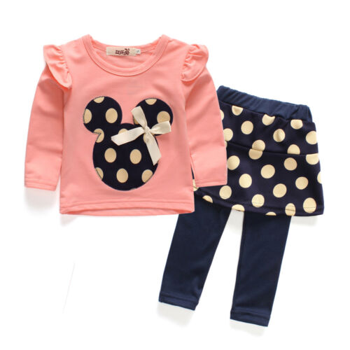 Pants Kids Clothes set 2pcs Toddler Baby Girls Minnie Outfits T shirt tops