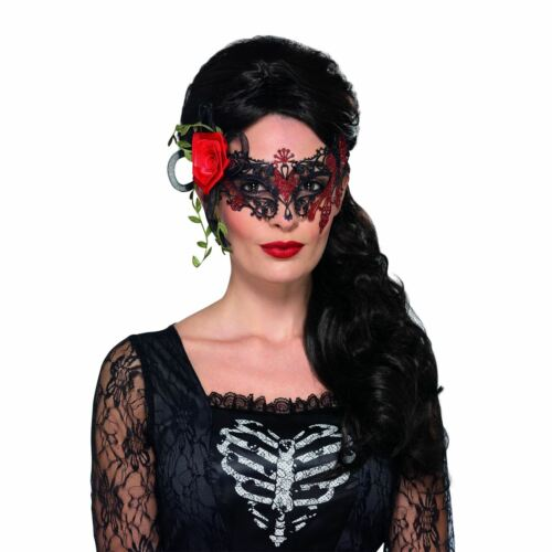 Ladies Day of the Dead Mexican Filigree Rose Eye Mask Halloween Fancy Dress