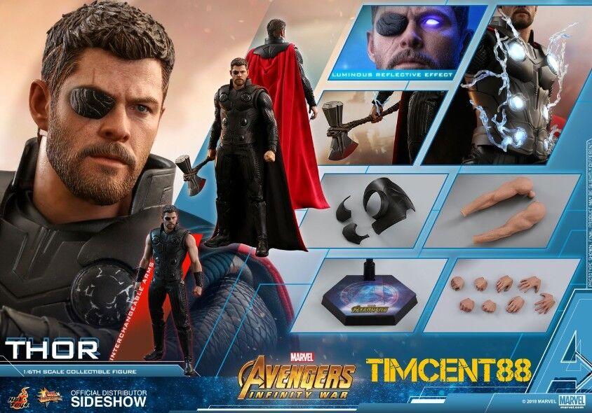 Pre-Order Hot Toys MMS474 Avengers  Infinity War 1 6 Thor Chris Hemsworth Figure