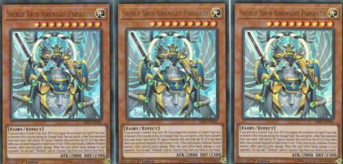 YUGIOH 3 X SACRED ARCH-AIRKNIGHT PARSHATH  SR05-EN001  WAVE OF LIGHT