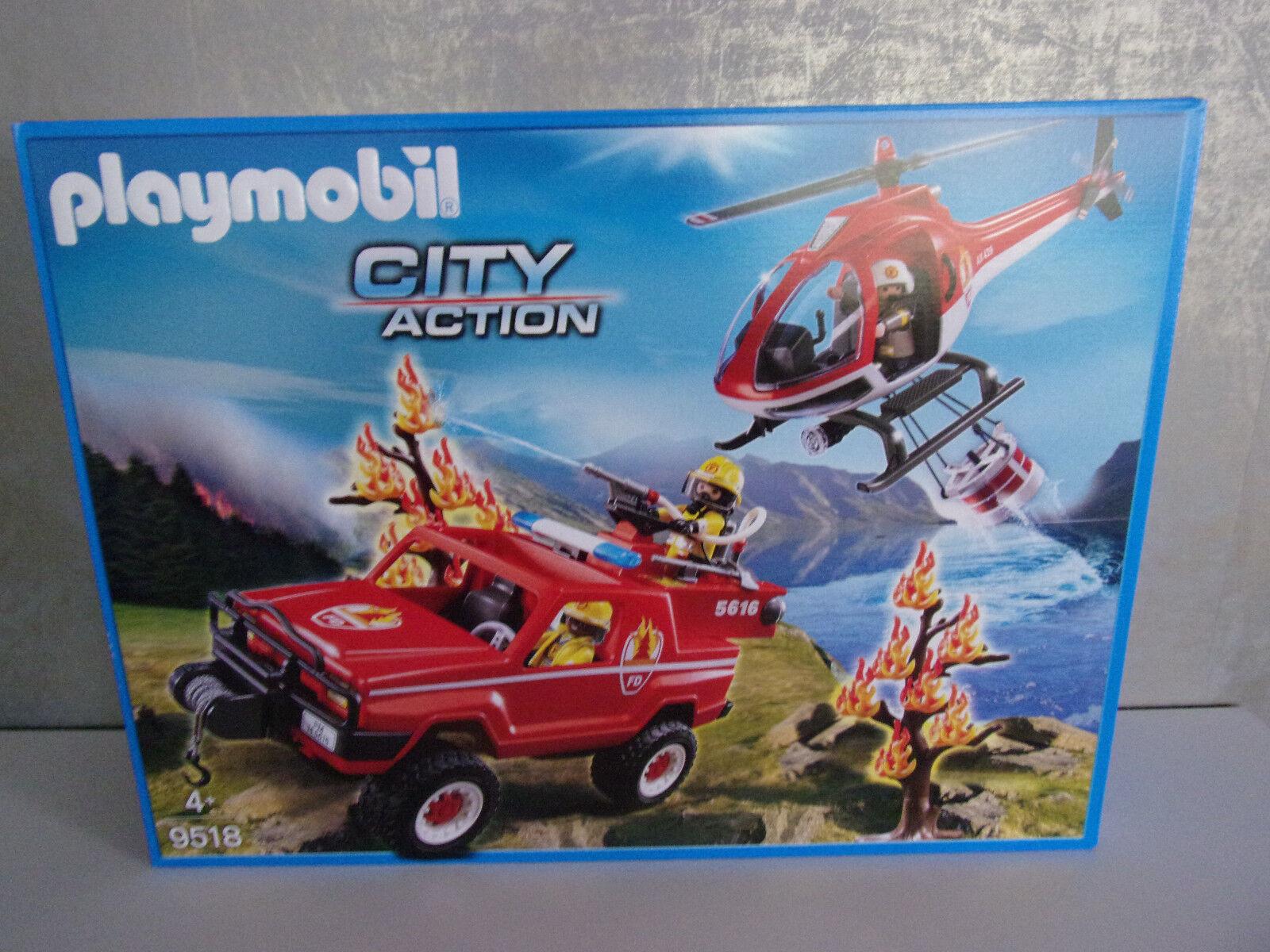 Les cadeaux cadeaux cadeaux de Noël sont envoyés tous les jours Playmobil City Action 9518 Feuerwehr-Waldbrandeinsatz - 262744