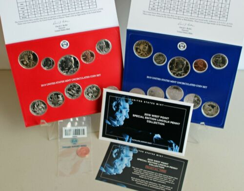 2019 Annual P and D Uncirculated 21 Coin Set with Bonus W Penny US Mint Set