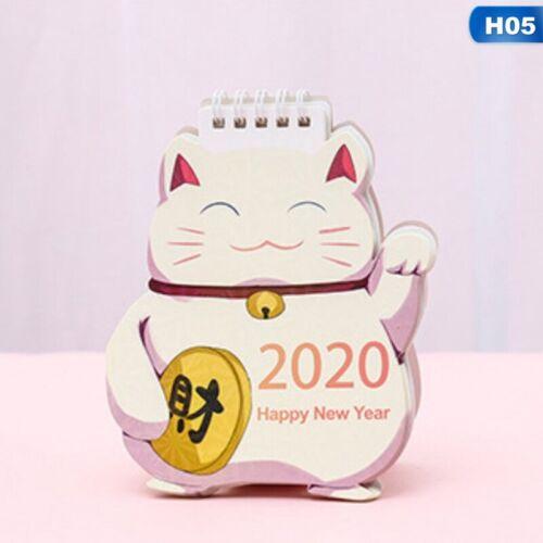 2020 Cartoon Mini Tisch Tischkalender Memorandum Plan Tierkalender Papier.DezYL