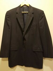 HICKEY FREEMAN Men's 42R Black Two Button Sport Coat Blazer Jacket