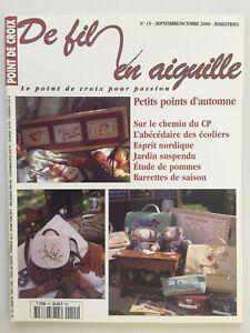 Magazine-DE-FIL-EN-AIGUILLE-Point-de-croix-N-15-Annee-2000