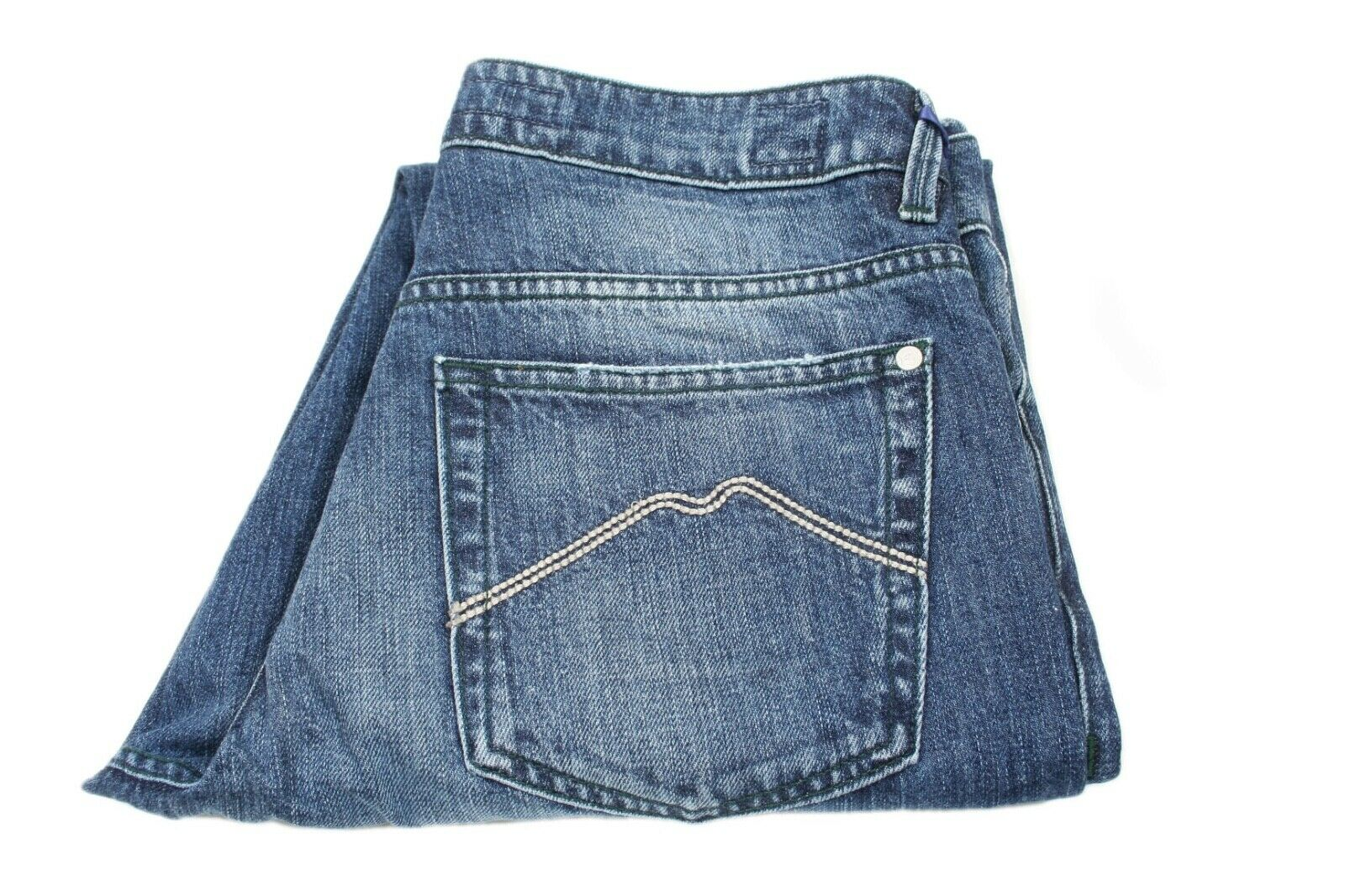 NWT E Marinella Lightly Whiskered Denim Jeans Size 31 (P6801)