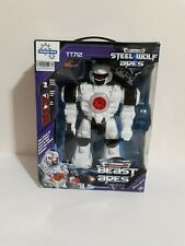 Toys Steel Wolf Ares  Remote Controlled Robot Awesome Sounds Fun Lights  NIB