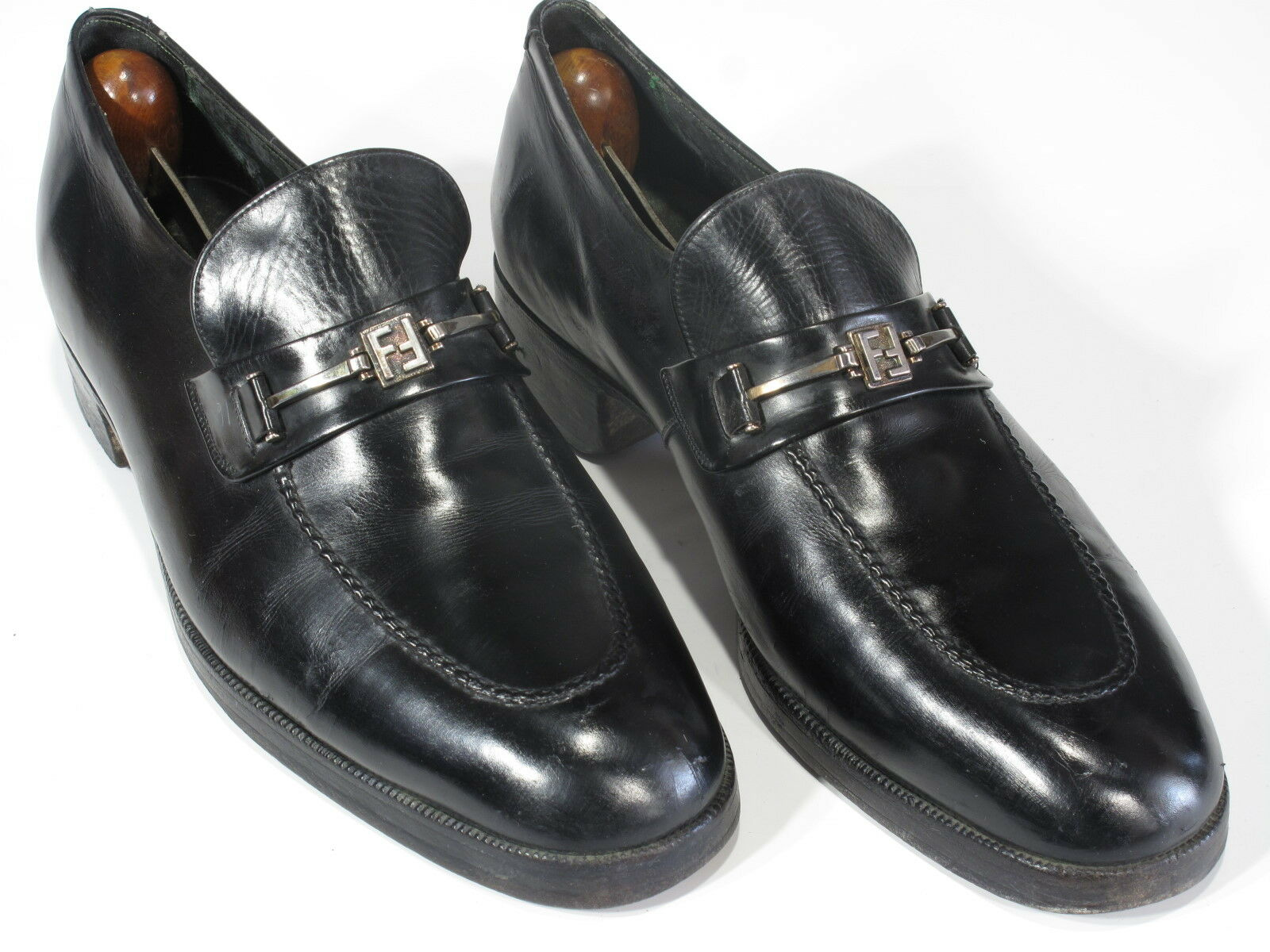 Rare Vintage FLORSHEIM ROYAL IMPERIAL nero Calf Bit Loafers 8D World Class