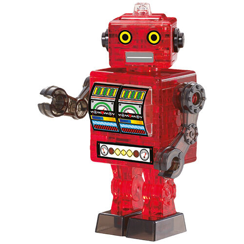 3D Crystal Puzzle - Roboter rot 39 Teile