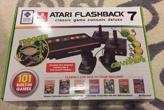 New Atari Flashback 7 Deluxe 2 Wireless Controllers-101 built in games
