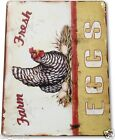 "TIN SIGN ""Eggs Farm Fresh"