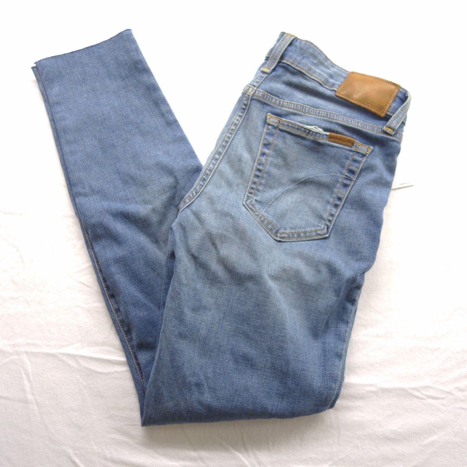 New Joe's Womens Distressed bluee Mid Rise Straight Leg Denim Jeans Pants 29 x 28