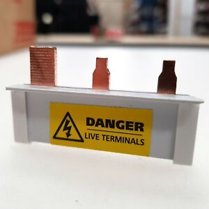 3 Pole 100A Busbar Insulated Copper Single Phase For 2 Way Consumer Units