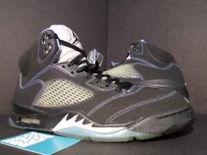 on sale a3eb5 8cdbf Image is loading Nike-Air-Jordan-V-5-Retro-LS-BLACK-