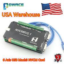 Usa 6 Axis Nvcm Usb Motion Mach3 Control Card Cnc Stepper Motor Breakout Board