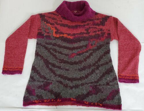 Rose Tiger Eye TurtleNeck Sweater NEW Free People Women/'s Medium Pink