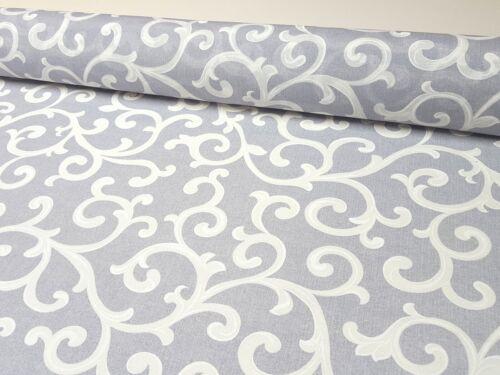 100/% Coton Tissu Panama DECO RIDEAU NAPPE Digital Pression Ornament Motif