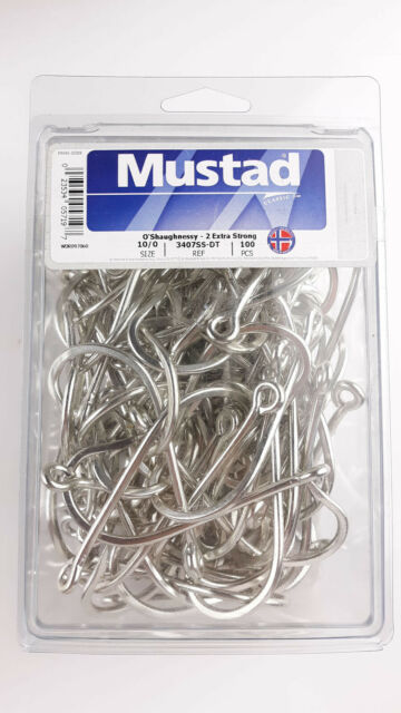 Mustad 3407SS Size 6//0 Salt Water 5 Pack 2 Extra Strong