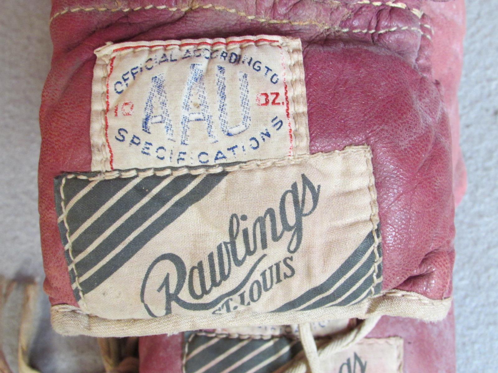 Vintage Weiter Leder Leder Leder Boxen Schlagen Geschwindigkeit Tasche Marathon Rawlings 9b414c