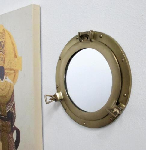 Miroir Mural Hublot Navire Fenêtre Miroir Or FRISIERSPIEGEL Nouveau Dekospiegel