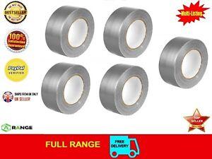 12-Duck-Duct-Gaffa-Gaffer-Waterproof-Cloth-Tape-Silver-Black-50mm-x-50m-1-2-3-6