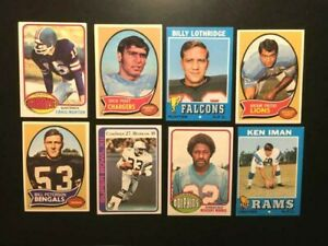 Topps  8 FOOTBALL CARDS Lot W/ Craig Morton VG+TO-EX-CLEAN-FREE SHIPPING