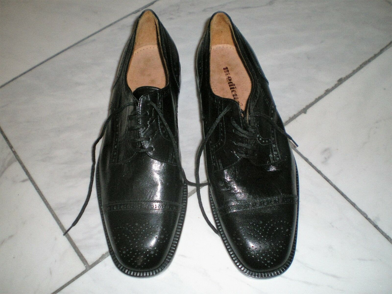Herren Business-Schuhe,vero cuoio the london , Budapester, schwarz Gr.43