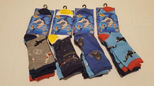 Space /& Sea Life Dinosaurs 3 Pairs Kids Socks