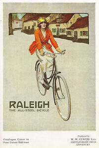 AD33-Vintage-1920-039-s-Raleigh-Bicycles-Bike-Advertising-Poster-A4-Re-print