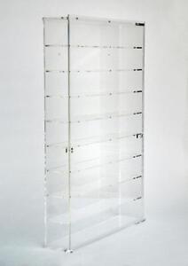 Bacheca-Vetrina-in-plexiglass-Scala-1-43-fondo-trasparente-9-ripiani