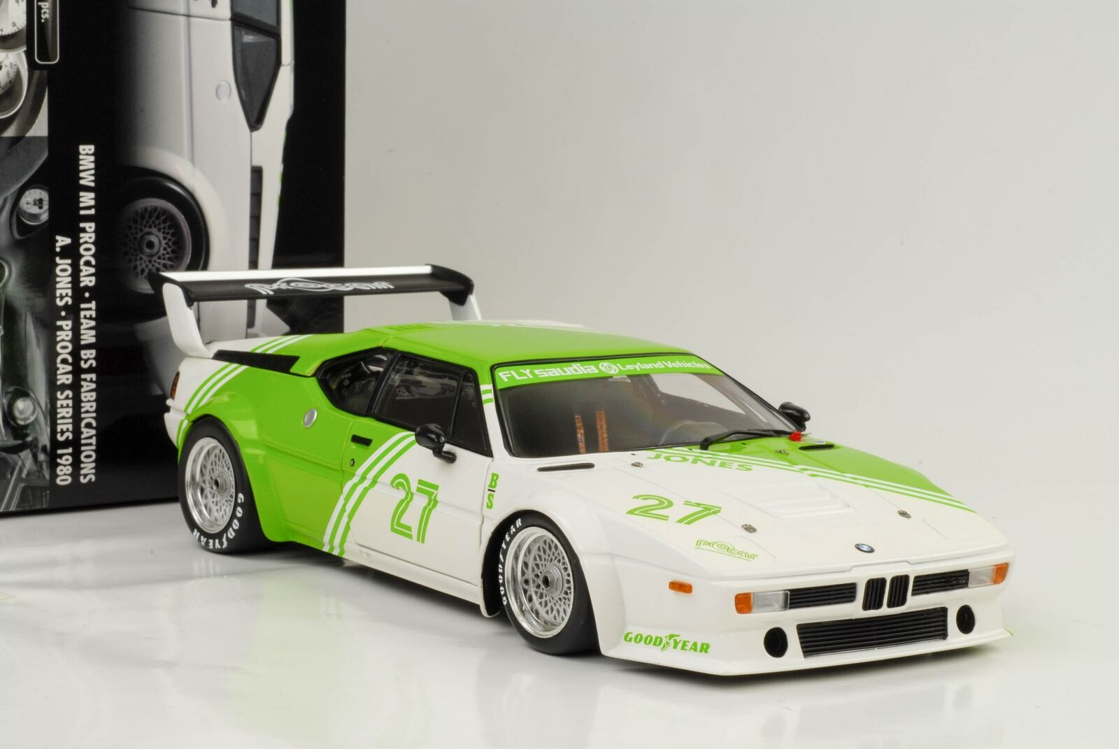 1:18 m1 BMW Procar Team BS Fabrications #27 Jones Voiture Miniature 1:18 Minichamps | Formes élégantes