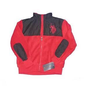 ae41d04b8989 New Infant Boys U.S. Polo Association Fleece Jacket 12-18 Months Red ...
