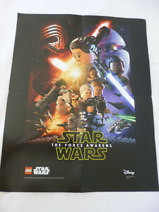 New Disney Lego Star Wars The Force Awakens Poster 16 X 20 From
