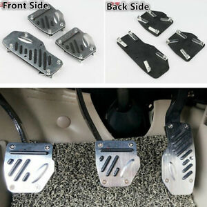 3PCS-Aluminium-Non-Slip-Brake-Clutch-Accelerator-Foot-Pedals-Pad-Covers-M-T