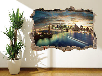 9316759 Brooklyn Bridge Manhattan New York photo wall sticker wall mural USA
