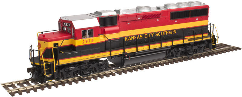 KANSAS CITY SOUTHERN RR GP40-2 HO-SCALE W ESU LOKSOUND SYSTEM ATLAS MODEL RR