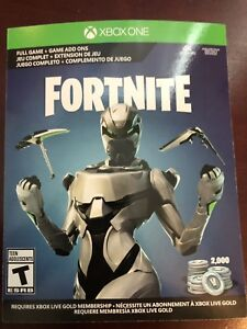 Details about Fortnite Eon Skin Cosmetic Set + Full Game Xbox One +  Physical Card